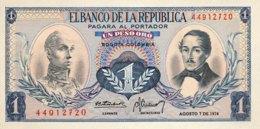 Colombia 1 Pesos Oro, P-404e (7.8.1974) - UNC - Colombie