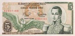 Colombia 5 Pesos Oro, P-406f (1.1.1980) - UNC - Colombie
