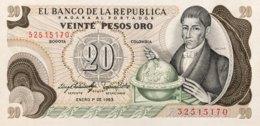 Colombia 20 Pesos Oro, P-409d (1.1.1983) - UNC - Kolumbien