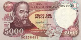 Colombia 5.000 Pesos Oro, P-435b (5.8.1988) - UNC - Kolumbien