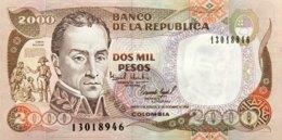 Colombia 2.000 Pesos, P-439b (17.12.1994) - UNC - Kolumbien