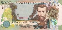 Colombia 5.000 Pesos, P-452b (17.12.2001) - UNC - Kolumbien
