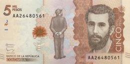 Colombia 5.000 Pesos, P-459 (19.8.2015) - UNC - Colombie