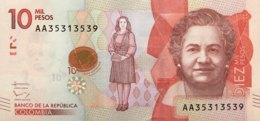 Colombia 10.000 Pesos, P-460 (19.8.2015) - UNC - Kolumbien