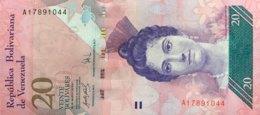 Venezuela 20 Bolivares, P-91a (20.3.2007) - UNC - First Issuing Date - Venezuela
