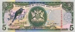 Trinidad & Tobago 5 Dollars, P-42 (2002) - UNC - Sign. 8 - Trinidad & Tobago