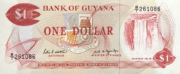 Guyana 1 Dollar, P-21f (1989) - UNC - Sign. 7 - Guyana