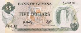 Guyana 5 Dollars, P-22f (1992) - UNC - Sign. 9 - Guyana