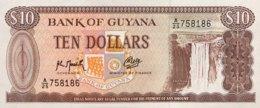 Guyana 10 Dollars, P-23f - UNC - Sign. 9 - Guyana