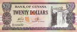 Guyana 20 Dollars, P-30e - UNC - Sign. 14 - Guyana