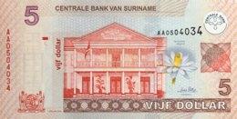 Suriname 5 Dollars, P-157a (1.1.2004) - UNC - Surinam
