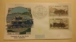 MONACO ..1°  Jour.d'émission..FDC ..1968 .  CENTENAIRE  DE  LA  VOIE  FERREES NICE MONACO - Joint Issues