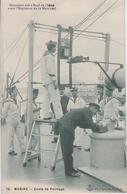 CPA A Bord De L'Iéna Avant L'explosion Du 12 Mars 1907 - Ecole De Pointage (très Belle Animation) - Guerre