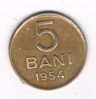 5 BANI 1954  ROEMENIE /1057/ - Roumanie