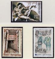 1998 - BOSNIA ERZEGOVINA - Mi.  Nr. 140+153+155 - NH - (UP121.26) - Bosnia Erzegovina