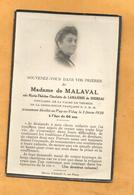 IMAGE GENEALOGIE FAIRE PART DECES  LE PUY EN VELAY MALAVAL LAMAJORIE DE SOURSAC 1930 PALME  VERMEIL CROIX ROUGE - Décès