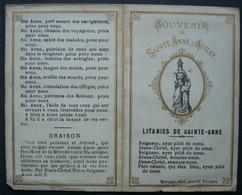 IMAGE PIEUSE Bonamy , Texte LITANIES DE SAINTE ANNE D'AURAY  / HOLY CARD - Images Religieuses