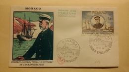 MONACO ..1°  Jour.d'émission..FDC ..1966 .. .CONGRES INTERNATIONAL D HISTOIRE DE L OCEANOGRAPHIE - Joint Issues