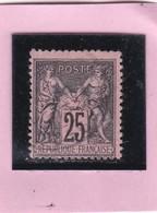 SAGE N° 97  Noir Sur -rose  + CAD   - REF 14017 - 1876-1898 Sage (Type II)