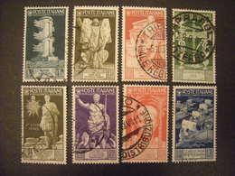 1937 - AUGUSTO, Lotto Di 8 Val. Usati TTB, OCCASIONE - 1900-44 Vittorio Emanuele III