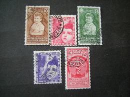 OCCASIONE, REGNO -1937, COLONIE ESTIVE, Lotto Di 5, Usati - Usati