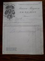 L15/7 Ancienne Facture. Saumur. Fabrique D'articles De Caves. Maison Bignon. CH. Salmon. 1888 - 1800 – 1899
