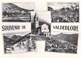 ** Lot De 2 Cartes ** 06 - VALDEBLORE : Une Multivues Et Une Vue Generale - CPSM Dentelée N/B GF - Alpes Maritimes - Autres Communes