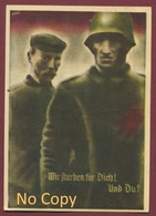 """Postkarte : Politik - Propaganda - Wahlen - Plébiscite : Volksabstimmung Saar 13 Jan 1935 """" Wir Wollen Heim Zum Reich """" - Germany"""