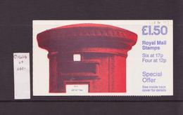 Grande Bretagne - Great Britain - Großbritannien Carnet 1986 Y&T N°C1201b(I) - Michel N°(?) *** - Carnet De 1£50 - Booklets