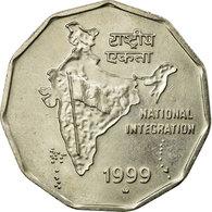 Monnaie, INDIA-REPUBLIC, 2 Rupees, 1999, TTB, Copper-nickel, KM:121.4 - Inde