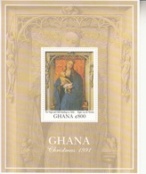 1991 Ghana Christmas Noel Paintings Art Complete Set Of 2 Sheets   MNH - Ghana (1957-...)