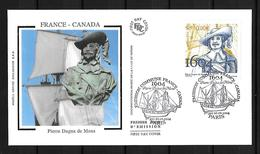 2004 Joint/Commune France And Canada, FDC FRANCE 1 STAMP: Duga De Mons - Joint Issues