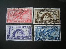 1936 - XVII FIERA DI MILANO, Serie Compl. Usata , 4 Val. TTB,  OCCASIONE - 1900-44 Vittorio Emanuele III