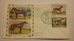 MONACO ..1°  Jour.d'émission..FDC ..1970 .. CHEVAUX  DE  SANG - Joint Issues