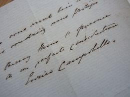 Enrico CAMPOBELLO (1848-1???) Chanteur BARYTON / Scottish Bass-baritone. OPERA. Autographe - Autographs