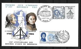 1986  Joint/Commune France And Finland, MIXED FDC WITH BOTH STAMPS: French Expedition In Lapland - Joint Issues