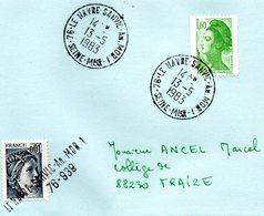 76 LE HAVRE  SANVIC  An.MOB.1  13-5-1983  -  Date D'ouverture  17 Avril 1967 - Marcophilie (Lettres)