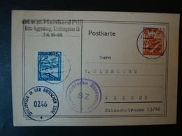 Österreich, Zensurpostkarte , Von Graz Nach Wien, 2 Zensurstempel: Österreichische Zensurstelle SZ + Zivilzensu Von 1946 - 1945-60 Briefe U. Dokumente