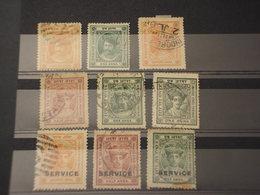 HOLKAR - 1889/... MAHARAJAH  9 VALORI, Insieme/set - TIMBRATI/USED - Holkar