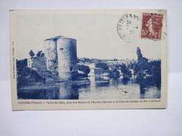 CPA  86 POITIERS Vallée Du Clain Près Des Ruines De L'Ancien Chateau Et Le Pont Du Chemin De Fer Vers Paris 1926  TBE - Poitiers
