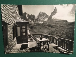 Cartolina Rollo Capanna Cervino Col Cimone Della Pala M.3186 - La Verrana - 1958 - Trento
