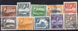 1953 Queen Elizabeth Issue 12 Values >24c Used - Antigua & Barbuda (...-1981)