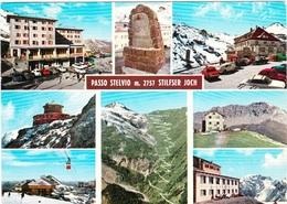 Passo Stelvio M. 2757 Stilfser Joch (sul Retro Timbro Rifugio Tibet Hotte) - Italia