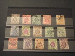 HONG KONG 1918/21 RE  15 VALORI, Insieme/set - TIMBRATI/USED - Used Stamps