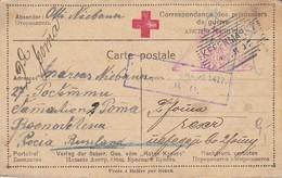 Karte Mit Antwortkarte - Kefermarkt An Kriegsgefangenen In Russland - Rotes Kreuz - POW - 1917 (39310) - 1850-1918 Imperium