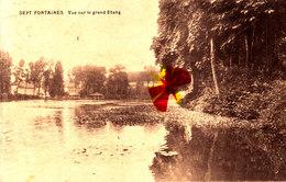 SEPT FONTAINES - Vue Sur Le Grand Etang - Ciculée En 1924 - St-Genesius-Rode