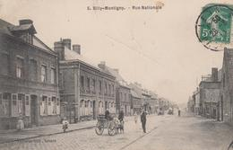 CPA Billy-Montigny - Rue Nationale (avec Attelage De Chiens) - France