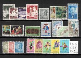 Luxembourg - Année Complète 1975 Neuve Avec Charnière - Complete MH Year 1975 - Luxemburg