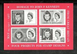 Grande Bretagne - Great Britain - Großbritannien Vignette 1963 N°vBF1 *** - Hommage à J Kennedy - Cinderellas