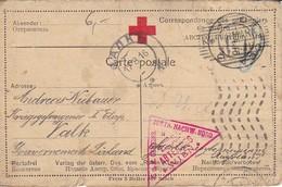Karte - Kefermarkt An Kriegsgefangenen In Valk In Livland - Russland - Rotes Kreuz - POW - 1916 (39311) - 1850-1918 Empire